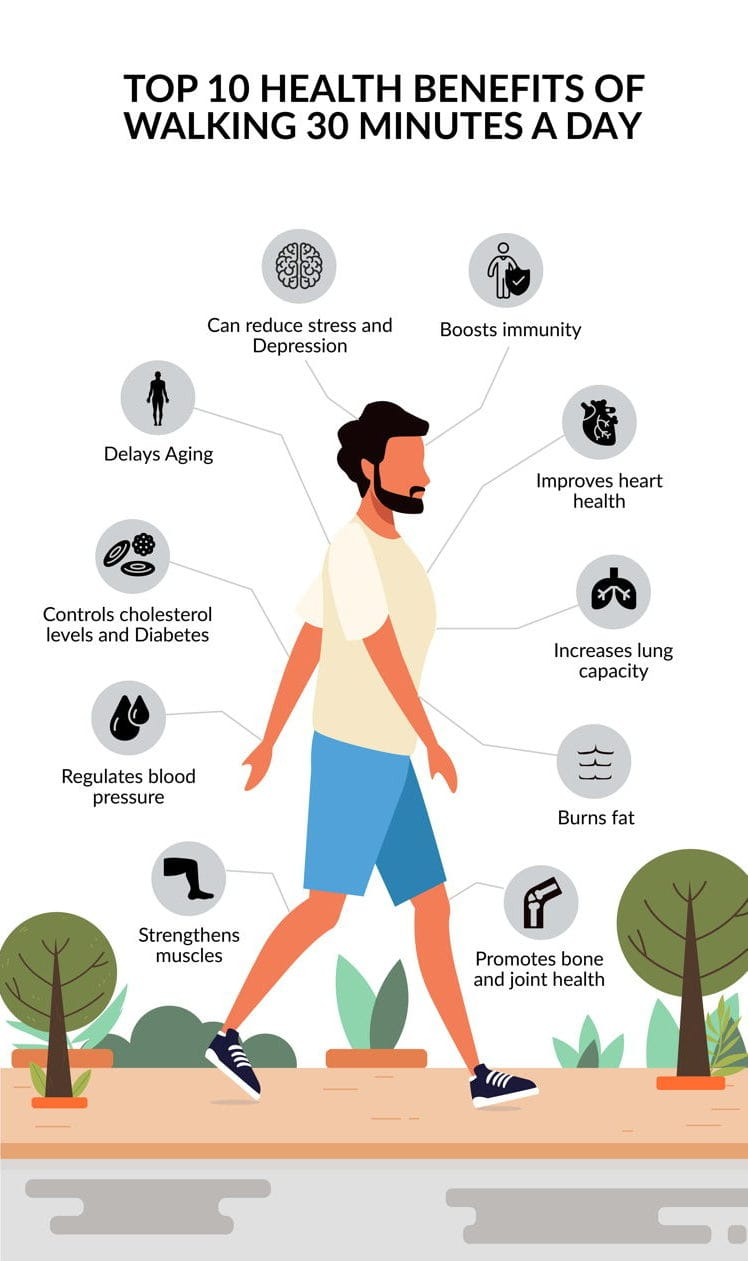 Image result for benefits of walking infographic