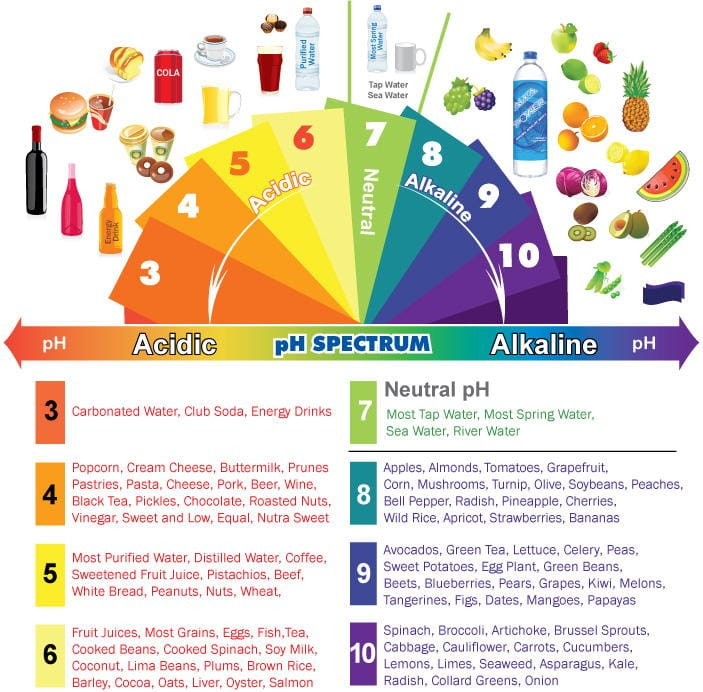 High Ph Foods And Drinks