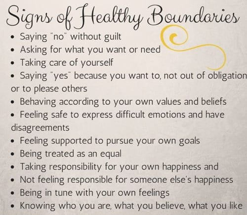 Establish Boundaries